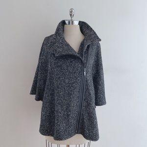 Novelti Wool Poncho Coat